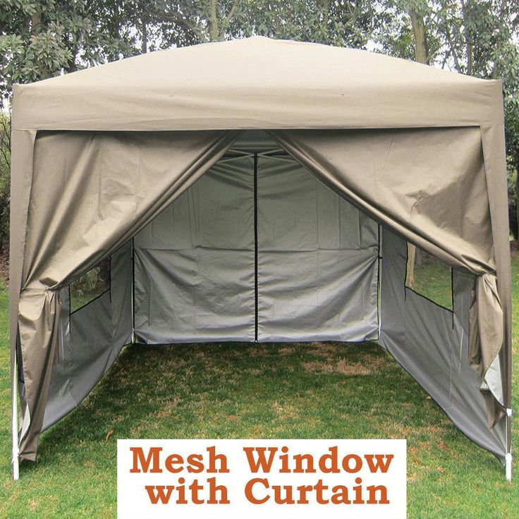 Quictent Privacy 8'x8' Beige EZ Pop Up Party Tent Canopy Gazebo Screen Curtain 100% Waterproof * Find out more about the great product at the image link.