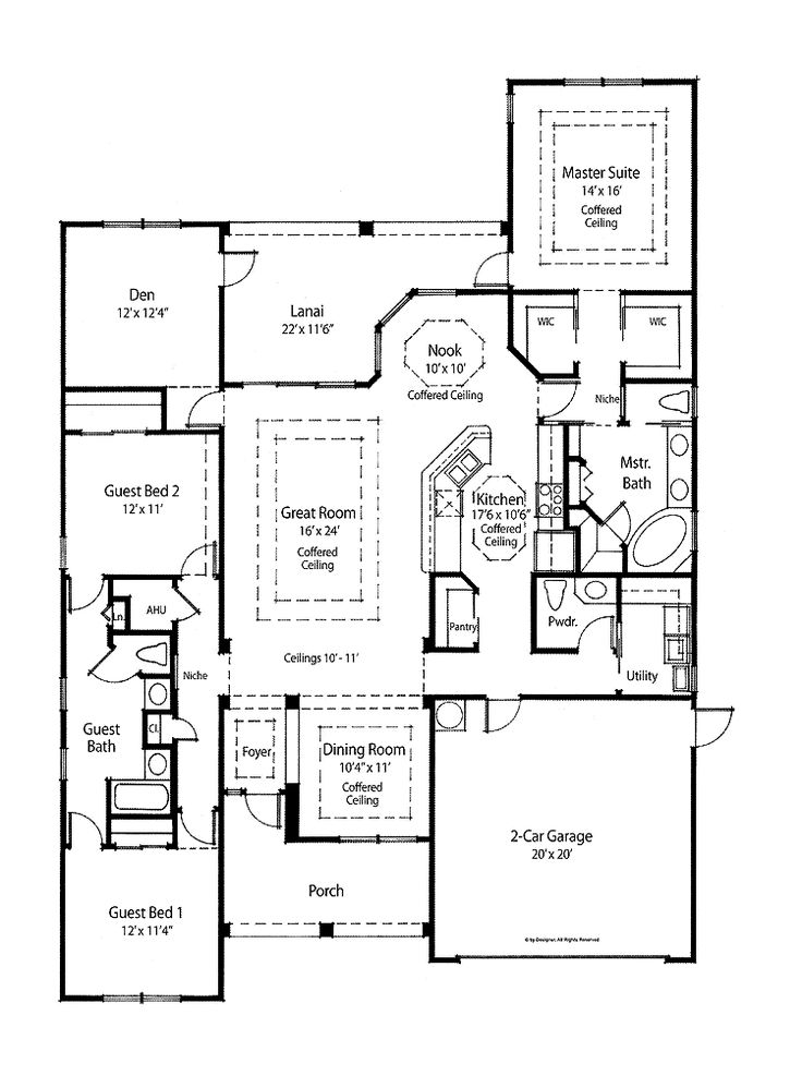 129 best images about single story layout on pinterest for House plans with laundry room attached to master bedroom