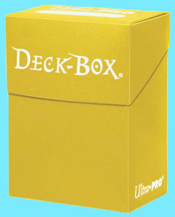 Deck Box Deck Case 80 Yellow Ultimate Guard GAMING SUPPLY BRAND NEW ABUGames