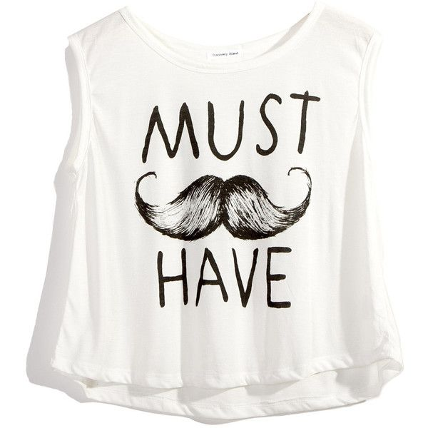 Moustache(Must Have) Print T-shirt ❤ liked on Polyvore
