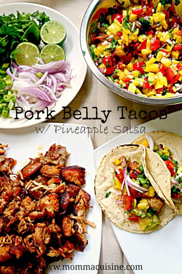Pork Belly Tacos with Pineapple Salsa Recipe by Momma Cuisine - Sponsored by McCormick Spices #McCormickTacoNight Mexican food is definitely a favorite in our house. It is especially my husband's favorite cuisine and he's lucky enough to marry a woman who has had 10 years working in the restaurant industry...