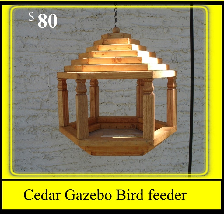 Free Gazebo Bird Feeder Woodworking Plans - WoodWorking ...