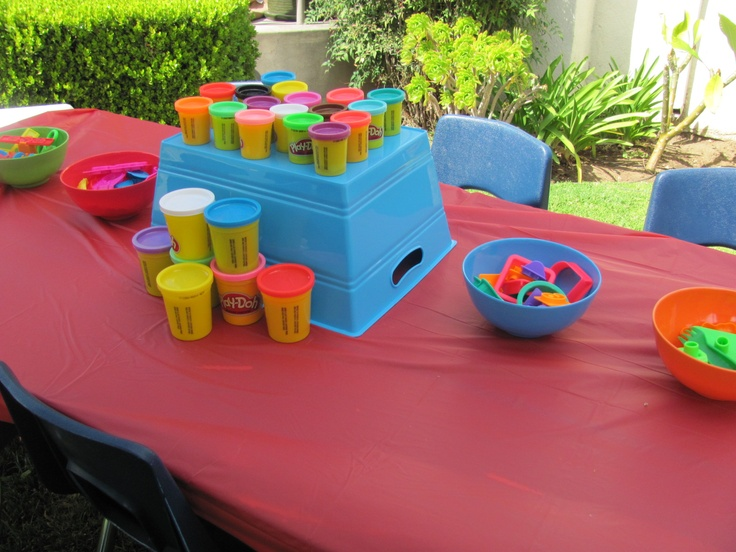 Crayola Birthday PartyPlay Doh Station Play PartyCrayon DecorationsFourth