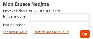 Nedjma Websms   SMS gratuit avec Nedjma   Zhoo.dz
