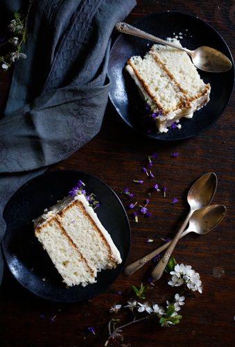 White Almond Sour Cream Cake, New Orleans Wedding Cake // Chocolate + Marrow