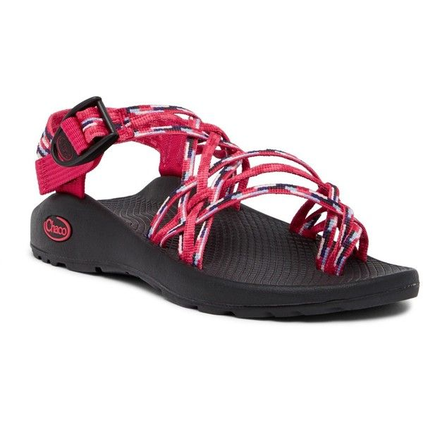 Chaco ZX3 Classic Strappy Sandal (215 ILS) ❤ liked on Polyvore featuring shoes, sandals, rain raspb, criss-cross shoes, chaco shoes, buckle strap sandals, chaco and chaco footwear
