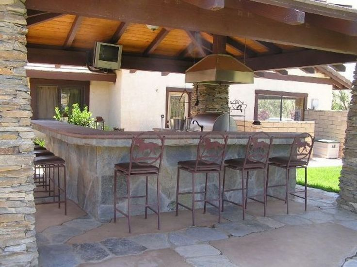 Slate Outdoor Built In Patio Bar | Photos Of Outdoor Kitchen Bar Ideas  Inspired To Design