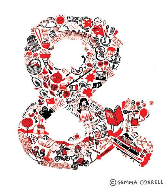 via Flickr (@Gemma Correll)Gemma Docherti, Hands Letters, Flickr Gemma, Gemma Correll, Ampersand Desktop Wallpapers, Typography Illustration, Docherti Correll