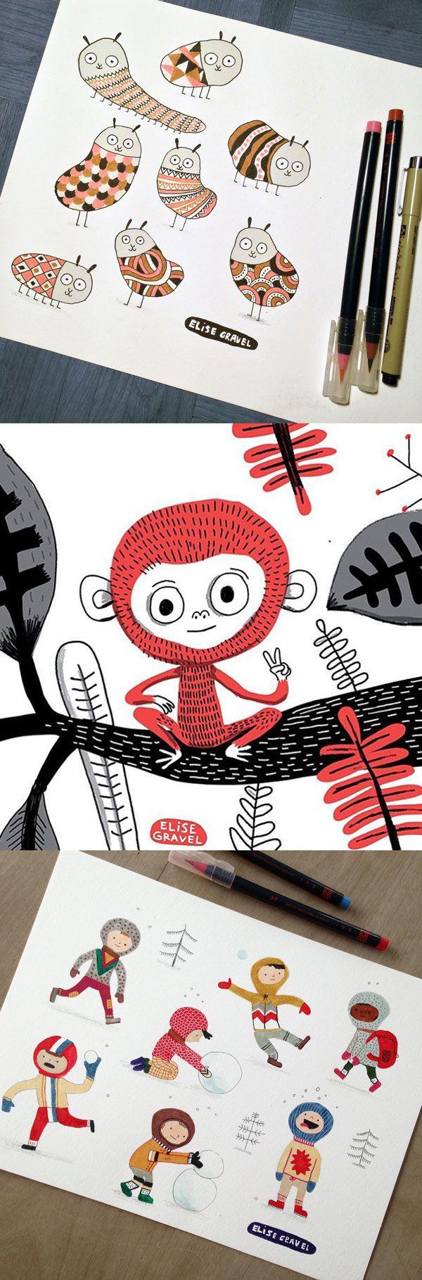 sock monkey how to draw