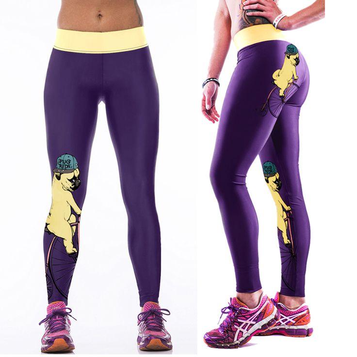 Personality Women Sportswear Yoga Pants Skinny High Waist Elastic Gym  Fitness Workout Stretch Running Tights Sports Leggings