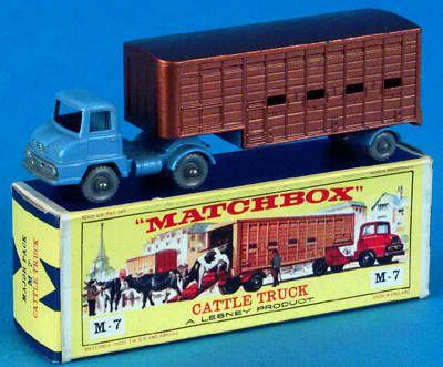 Lesney Matchbox Major pack M7 Ford Thames trader & Jennings cattle trailer