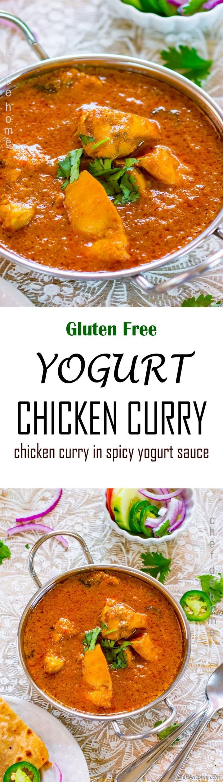 Yogurt Chicken Curry! The chicken curry from Northern India which is must try for every Indian food lover.