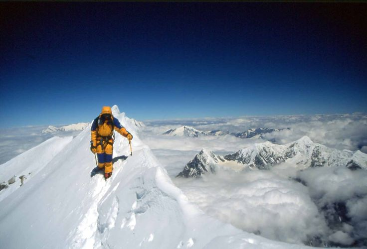 Jean-Christophe Lafaille in 2002 on Annapurna 1 8,091m. RIP Jean-Christophe - this photo is a great legacy.