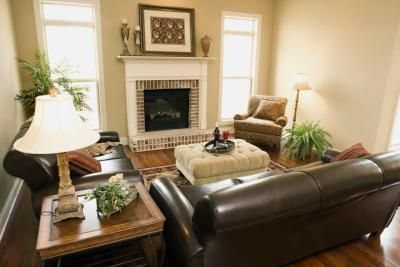 decorating with leather furniture | How to Accessorize a Brown Leather Couch thumbnail