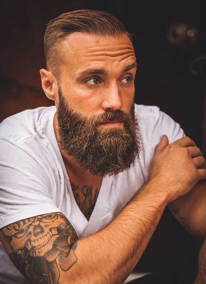 Best 25 perfect beard ideas on pinterest beard barber near me this man is so chill in his basic white cotton v neck but he keeps it so cool with his full beard and slicked back hair urmus Choice Image