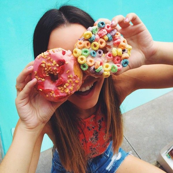 """Sierra Furtado on Instagram: """"I wish I could eat donuts for breakfast... ❤ liked on Polyvore"""