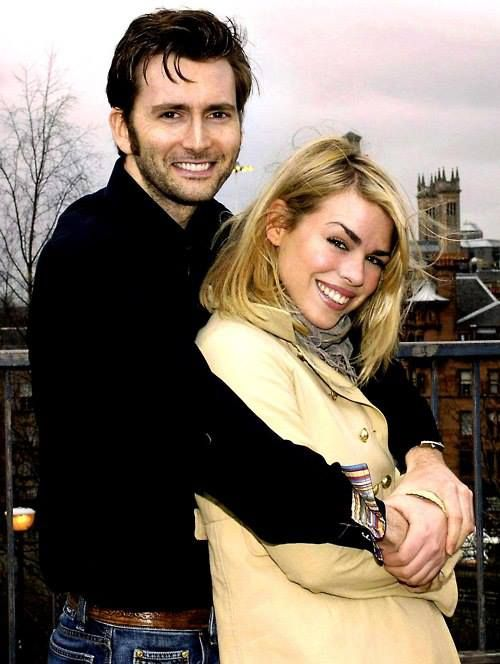 David Tennant and Billie Piper :D why did she have to go ... David Tennant Billie Piper 50th Anniversary