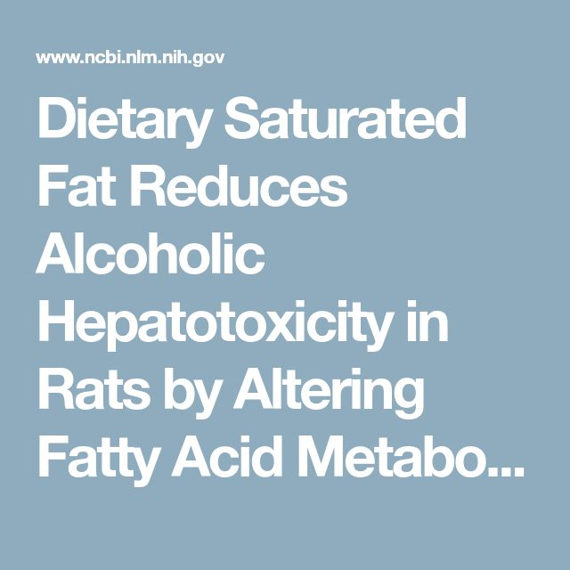 Dietary Saturated Fat Reduces Alcoholic Hepatotoxicity in Rats by Altering Fatty Acid Metabolism and Membrane Composition - PubMed Labs