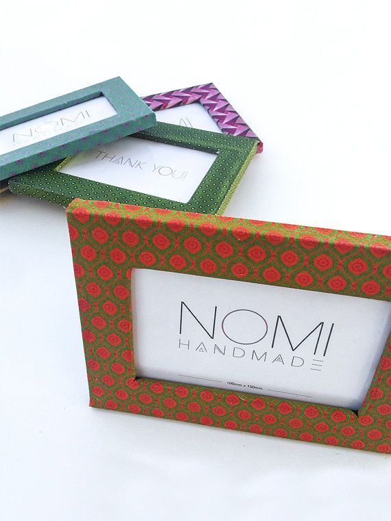 This picture frame is made with authentic traditional shweshwe material from South Africa. The print you see here Nomi Handmade lovingly calls Eye