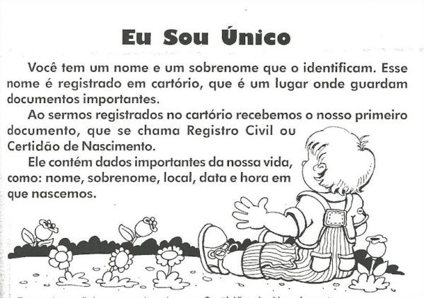 Projeto Identidade Para Educacao Infantil Projeto Identidade