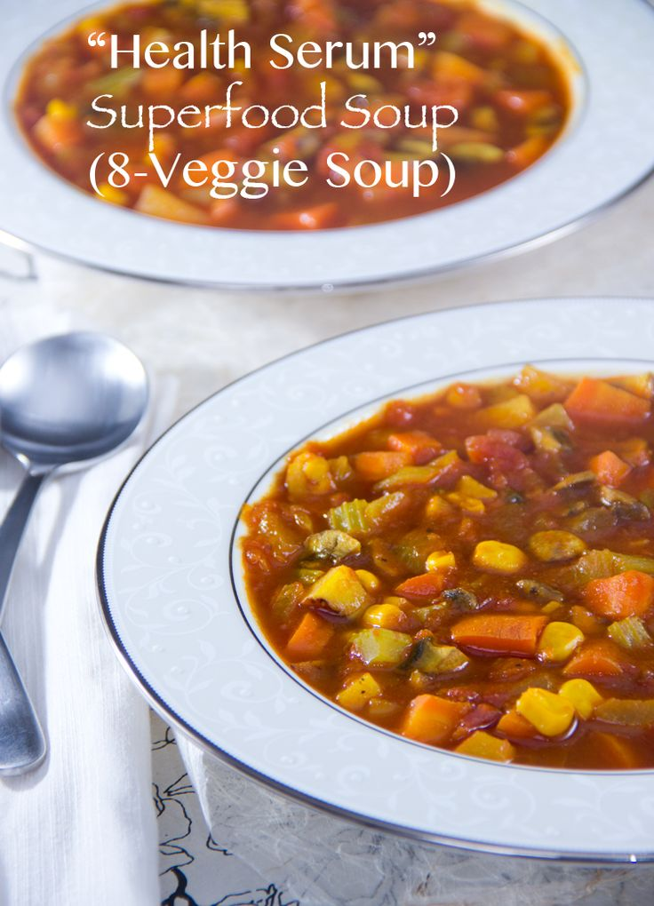 8-Veggie Soup | This antioxidant-packed, veggie-filled soup is ready in about 30 minutes! #vegan | The Scrumptious Pumpkin: