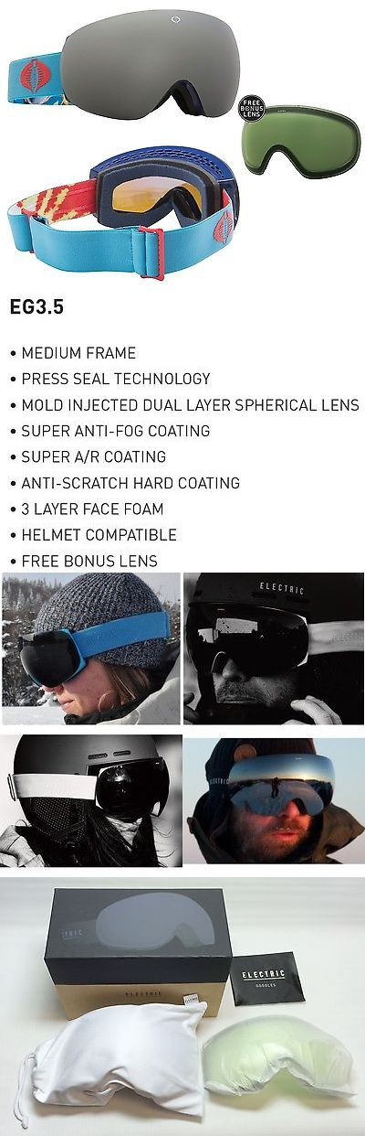 Goggles and Sunglasses 21230: New Electric Eg3.5 Cobra Blue Silver Mirror Frameless Goggles +Lens 2016 Ret$220 -> BUY IT NOW ONLY: $72.99 on eBay!
