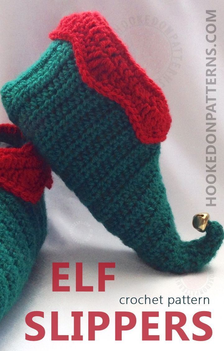 Elf Slippers Shoes Crochet Pattern Curly Toes Crochet