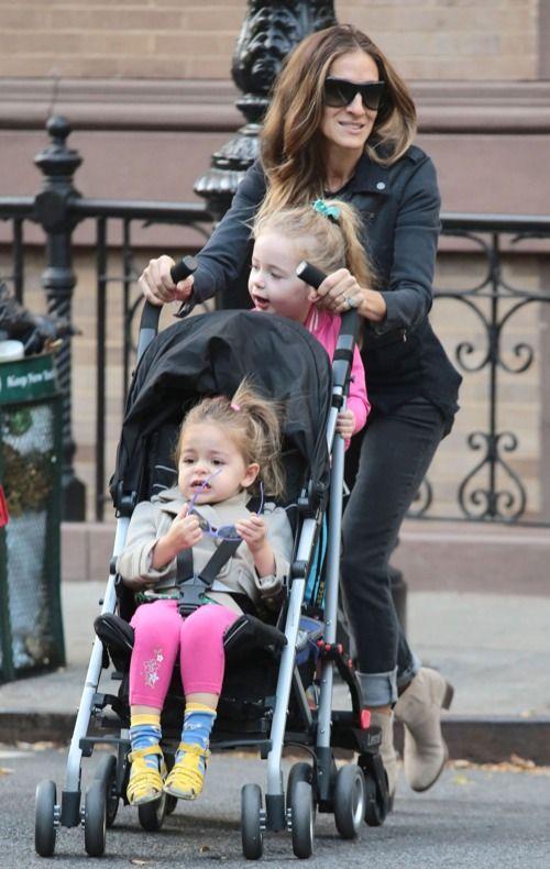 Sarah Jessica Parker Babies | Sarah Jessica Parker Takes The Kids To School | Celeb Baby Laundry