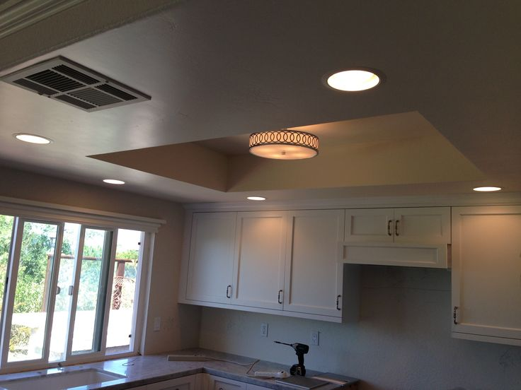 Install Recessed Lighting In A Kitchen: Remodel Flourescent Light Box In Kitchen