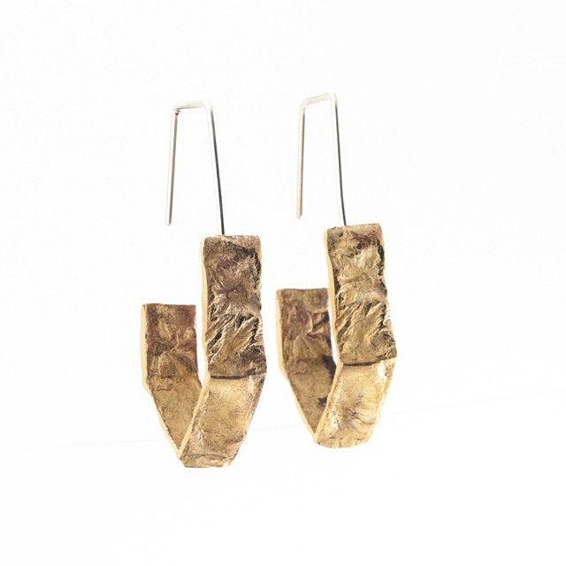 Boucles d'oreilles Bronze et Argent - Véronik Langlois #labijouteriemtl