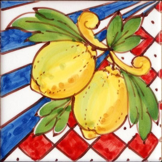 Patchworks piastrelle siciliane decorate a mano stile