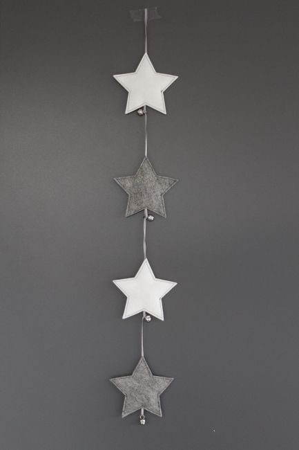 ♥ DIY: felt stars. God Jul - scandinavian Christmas More