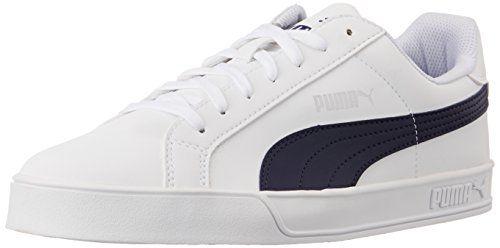 Puma Puma Smash Vulc, Unisex-Erwachsene Sneakers, Weiß (white-peacoat 10), 44.5 EU (10 Erwachsene UK) - http://uhr.haus/puma-6/44-5-eu-puma-unisex-erwachsene-smash-vulc-sneakers-9