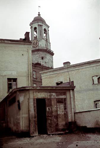 Viipurin vanhan tuomiokirkon kellotorni. Viipuri 1941.08.31