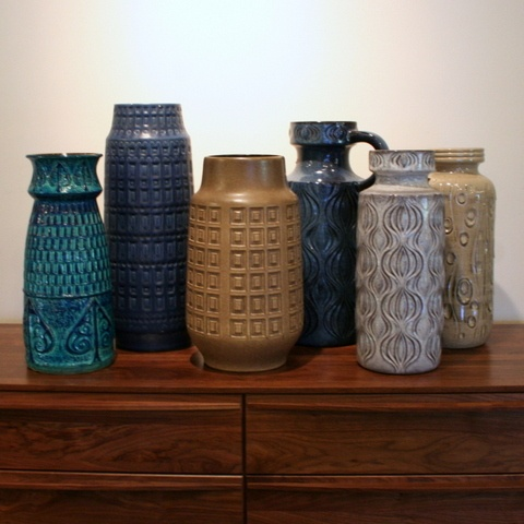 FULLHOUSE Modern | Vintage West German Vases