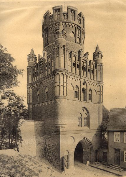 Germany, Stendal, The Uenglinger Town-Gate. 13-15th century.