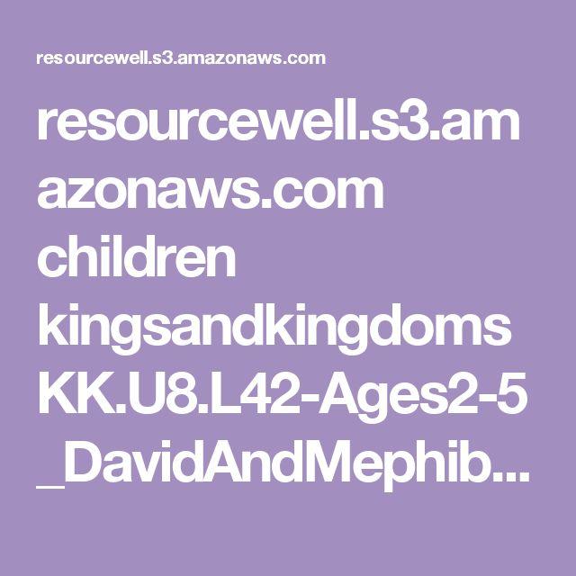 28 Best Images About David And Mephibosheth On Pinterest