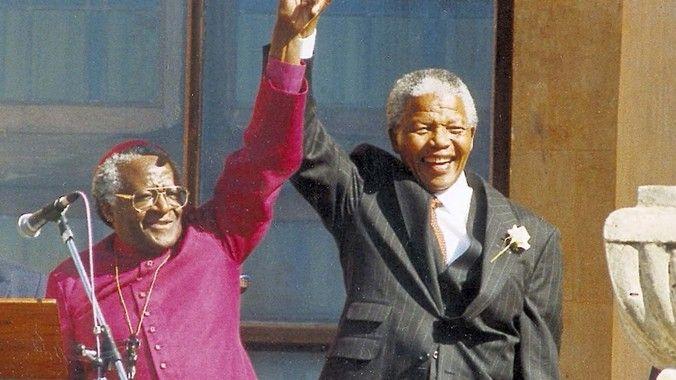 Archbishop Emeritus Desmond Tutu and former president Nelson Mandela. (Gallo)
