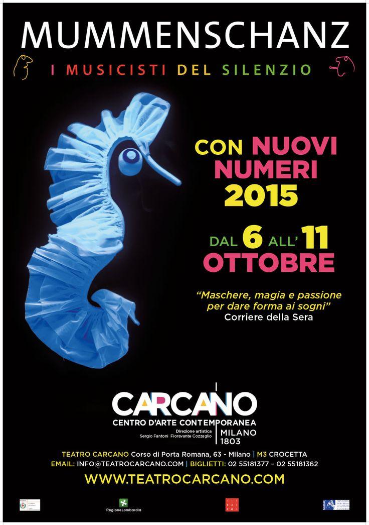 Dal 6 all'11 ottobre 2015 i #Mummenschanz a #Milano al Teatro Carcano