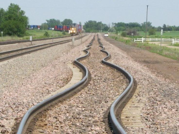 railway lines after an earthquake