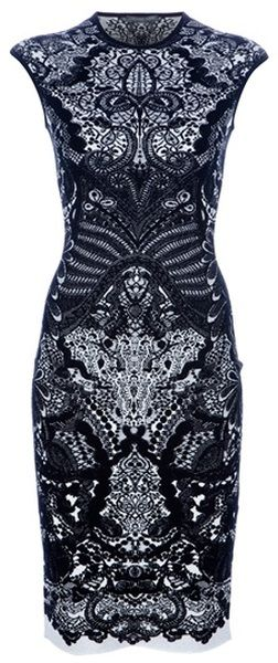 ALEXANDER MCQUEEN Fitted Paisley Dress