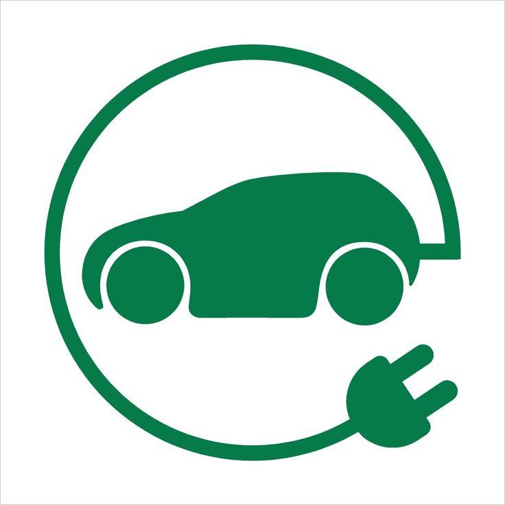 oplaadpunt elektrische auto pictogram bord