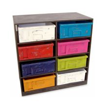 Funky Industrial Drawers - Multicoloured