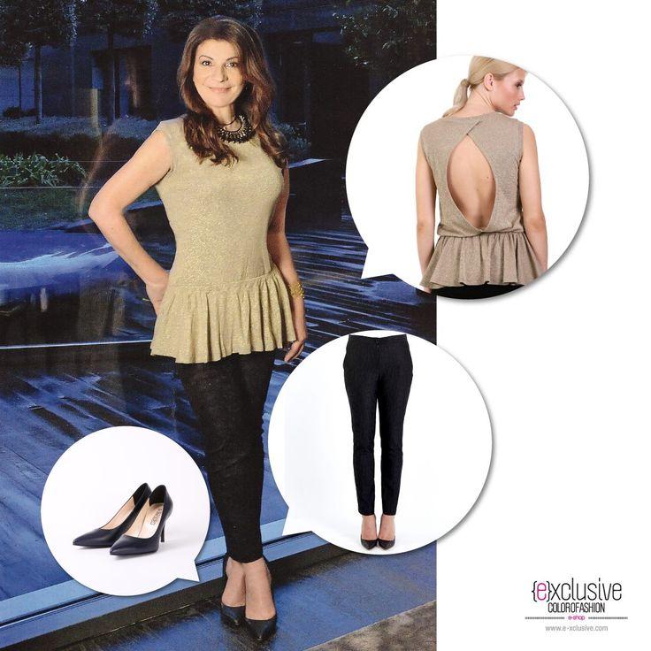 H Αργυρώ Μπαρμπαρήγου απαιτεί ποιότητα και φινέτσα στο ντύσιμό της! Ανακάλυψε το look της! https://www.e-xclusive.com