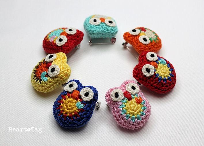 Free Crochet Owl Brooch Pattern Dancox For