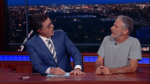 stephen colbert jon stewart handshake the late show with stephen colbert nice to meet you trending #GIF on #Giphy via #IFTTT http://gph.is/2a4TwJS
