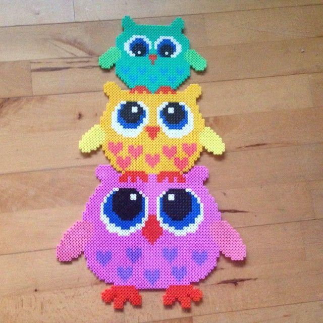 Owls hama perler beads by operledittemarie