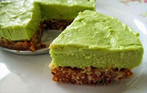 """Obrázek z Recept - Nepečený """"raw"""" dortík s matchou a šmakounem"""