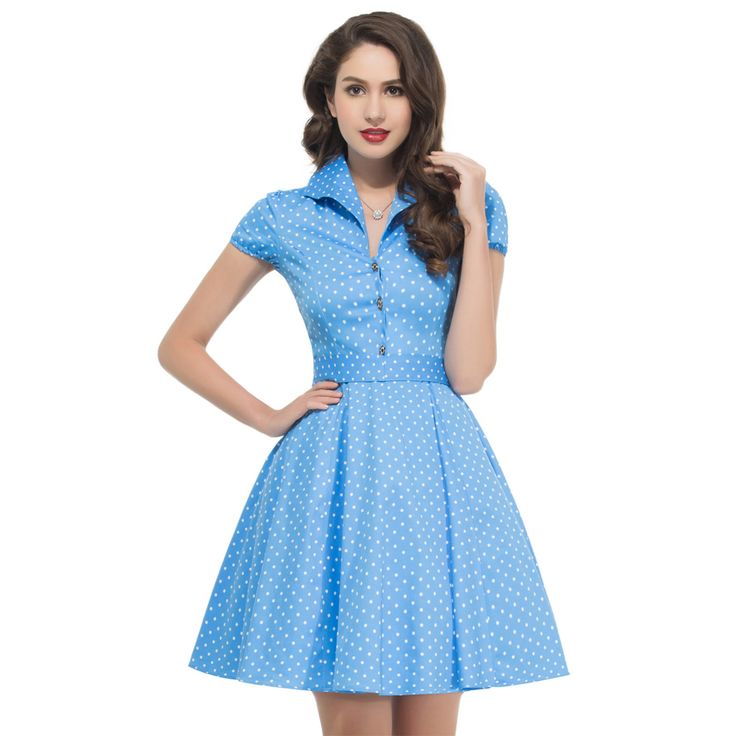 2017 Summer Style 50s Vintage Retro Rockabilly Dresses Swing Womens Casual Party Picnic polka dot Plus Size 60s clothing 6089