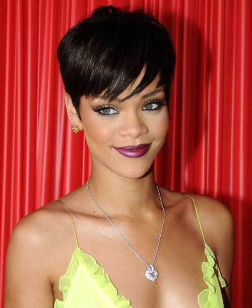Tremendous 1000 Ideas About Rihanna Short Haircut On Pinterest Black Bob Short Hairstyles Gunalazisus